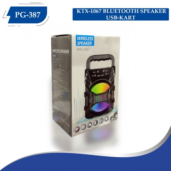 PG-387 KTX-1067  BLUETOOTH SPEAKER USB-KART