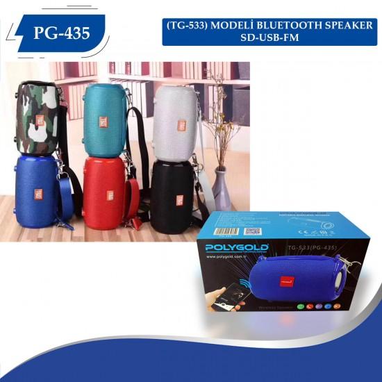 PG-435 (TG-533) MODELİ BLUETOOTH SPEAKER SD-USB-FM