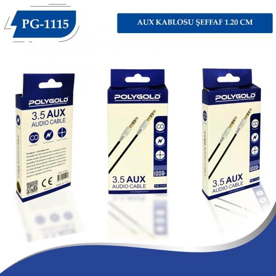 PG-1115 AUX KABLOSU ŞEFFAF 1.20 CM