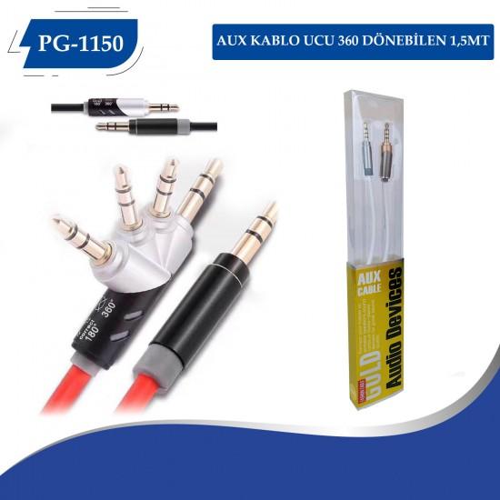 PG-1150 AUX KABLO UCU 360 DÖNEBİLEN 1,5MT