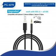 PG-4270 İPHONE-7-8 AUX KABLO TAK ÇALIŞTIR LİGHTNİNGH JH-023