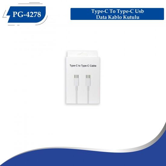 PG-4278 Type-C  To Type-C Usb Data Kablo Kutulu