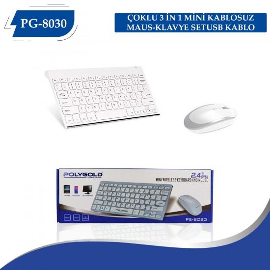 PG-8030 MİNİ KABLOSUZ MAUS-KLAVYE SET