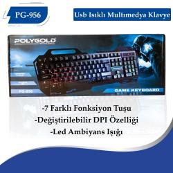 PG-956 Usb Isıklı  Multımedya Klavye