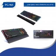 PG-965 K10 Usb IsıklI Multımedya Klavye