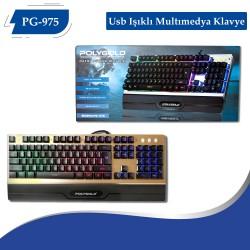 PG-975 Usb Isıklı Multımedya Klavye