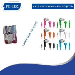 PG-4232 J5 VİETNAM KULAKLIK MOD 20 LİK (POŞETLİ)