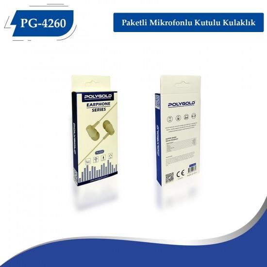 PG-4260 Paketli Mikrofonlu Kutulu Kulaklık