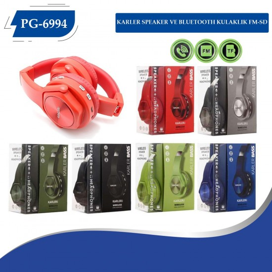 PG-6994 SPEAKER VE KULAKLIK BLUETOOTH  FM-SD