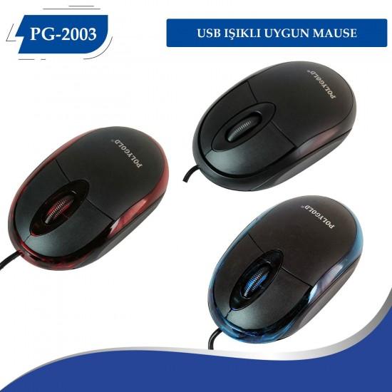 PG-2003 USB IŞIKLI UYGUN MAUSE