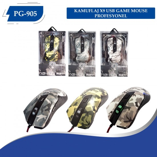 PG-915 KAMUFLAJ X9 MACROLU OYUNCU MAUSE