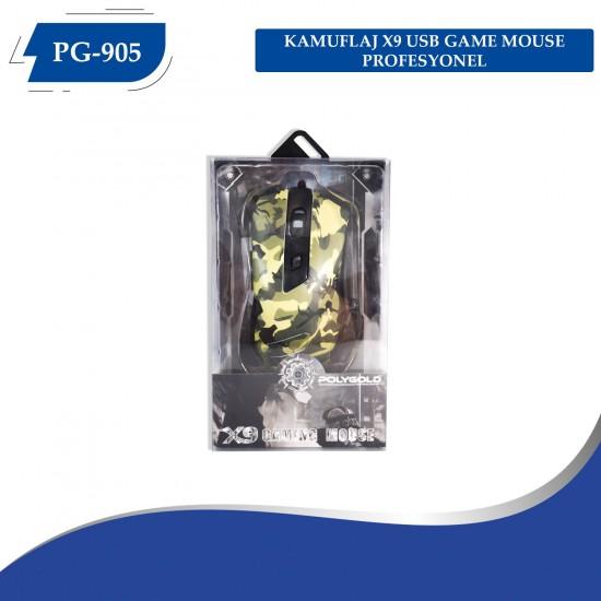PG-905 KAMUFLAJ X9 MACROLU OYUNCU MAUSE