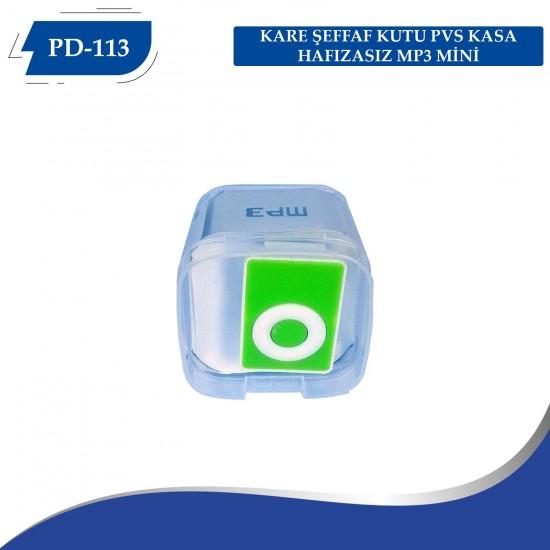 PD-113 KARE ŞEFFAF KUTU PVS KASA HAFIZASIZ MP3 MİNİ
