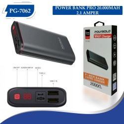 PG-7062 POLYGOLD POWER BANK PRO 20000MAH 2,1 AMPER