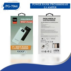 PG-7064 POLYGOLD POWER BANK PRO 10000MAH 2,1 AMPER