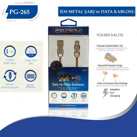 PG-265 İPHONE METAL UÇLU 3.0 USB USB DATA KABLO