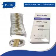 PG-439 SAMSUNG USB KABLO  20 LİK POŞETDE