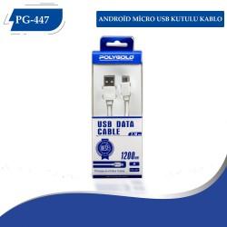 PG-447 2.1A Micro USB Kutulu Kablo