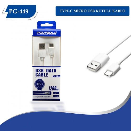 PG-449 2.1A TYPC-E USB Kablo Kutulu