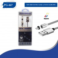 PG-467 İPHONE MIKNATISLI 360 DERECE USB KABLO