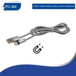 PG-468 TYPE-C MIKNATISLI 360 DERECE USB KABLO
