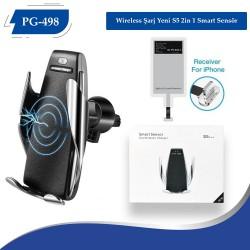 PG-498 Wireless Şarj Yeni S5  2in 1 Smart Sensör