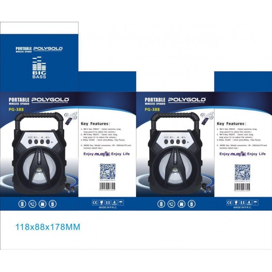 PG-388 BLUETOOTH SPEAKER USB-KART