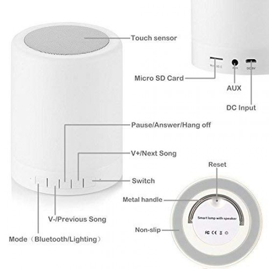 CL-671 ISIKLI MODELİ BLUETOOTH SPEAKER SD-USB-FM