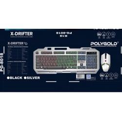 PG-8018 K18 USB IŞIKLI KLAVYE VE MAUS SETİ