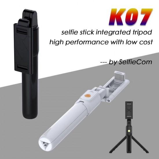 K07 Uzaktan Kumandalı Bluetooth Selfie Çubuğu - 3 Ayaklı 60 cm Tripod