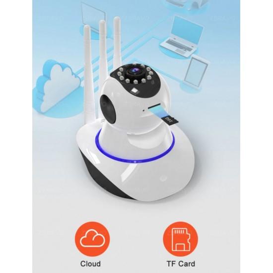 Hd 360 Derece Wifi Ip Kamera Gece Görüş 3 Antenli Güvenlik Ve Bebek Izleme