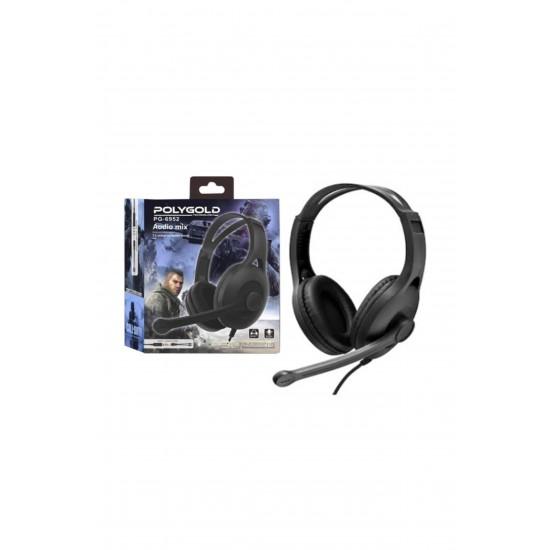 PG-6952 Polygold Mikrofonlu Gaming 3.5 mm Jack Surround Oyuncu Pc Kulaklığı