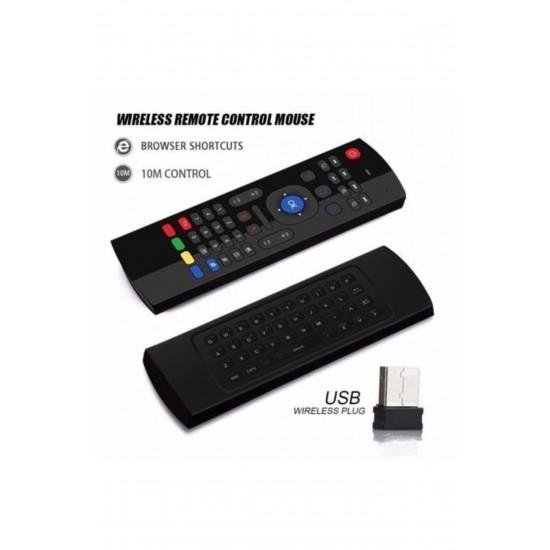 PG-8037 Polygold Kablosuz Klavye Mouse Smart Tv Box Pc Şarjlı Akıllı Kumanda Klavyeli Akıllı Tv Kumandası
